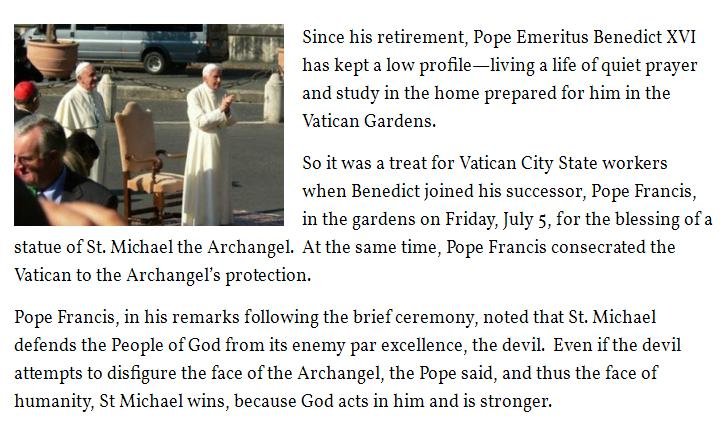 Cleansing Fire – Two Popes Consecrated Vatican to St  Michael the
