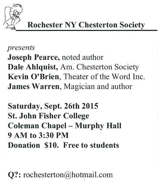 Chesterton Conference 2 of 2 2015