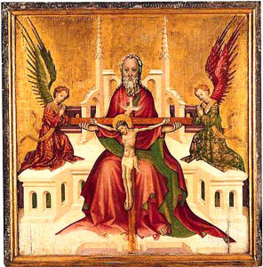 15_Austrian_Trinity with Christ Crucified National gallery London The Trinity with Christ Crucified about 1410   AUSTRIAN